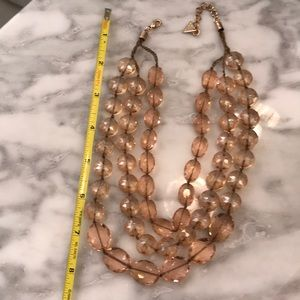 Light pink sparkly necklace from Anthropologie